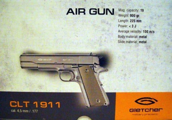 Технические характеристики Colt 1911