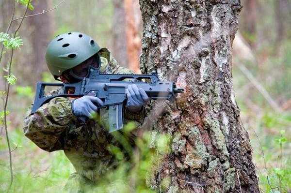 Использование штурмовой винтовки g36