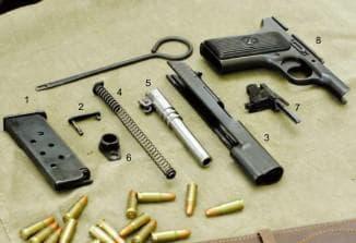 Разборка, чистка и ремонт пистолета