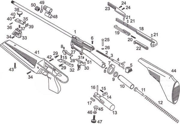 Схема винтовки Хатсан